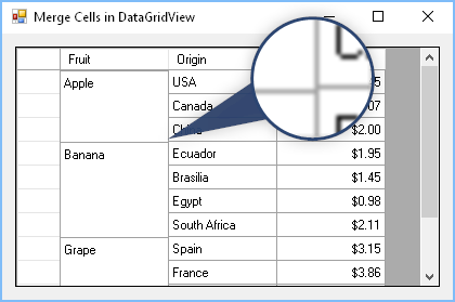 Problems with grid lines in DataGridView with cells merged vertically