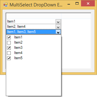 MultiSelect DropDown Editor for grid cells